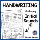 Alphabet Handwriting & Beginning Sound Practice Pages: Kindergarten Morning Work