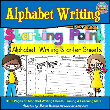 Alphabet Writing Starter Sheets (From A to Z)