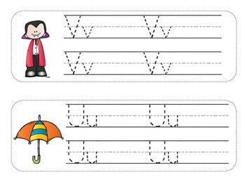 Alphabet Writing Strips