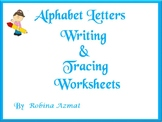 Alphabet Writing, Tracing and Coloring Worksheets