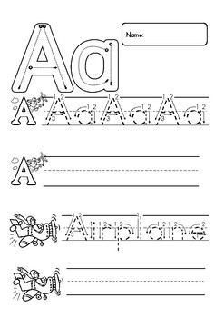 Alphabet Writing Upper Case and Lower Case