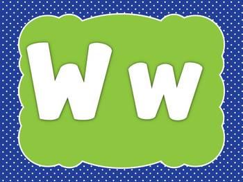 Alphabet Writing Videos - W, X