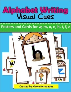 Letter Formation {Visual Clue Posters and Cards}