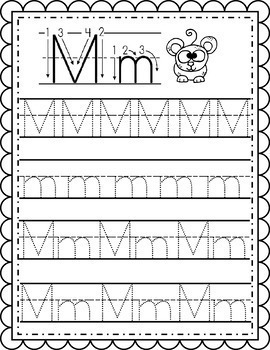 Alphabet Writing Worksheets Instant Download PDF ...