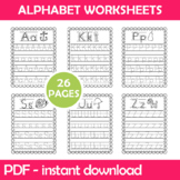 Alphabet Writing Worksheets Instant Download PDF; Preschoo