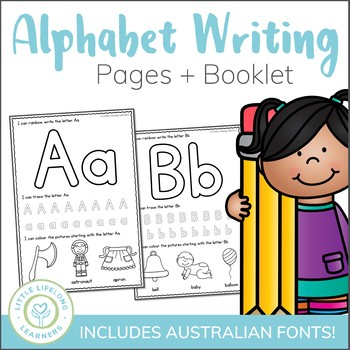 Alphabet Writing Worksheets and Book