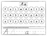 Alphabet Writing and Matching Worksheet Game Set (Ball and Stick)