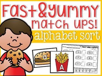 Alphabet Yummy and Fast Match-Ups