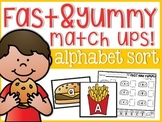 Alphabet Yummy and Fast Match-Ups