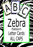 Alphabet Zebra Pattern Cards