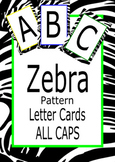 Alphabet Zebra Pattern Cards