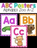 ABC Posters {Bright Polka Dots and Animals}