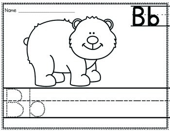Alphabet Zoo From A to Z {Color-N-Write} NO PREP