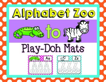 Alphabet Zoo From A to Z {Play-Doh Mats}