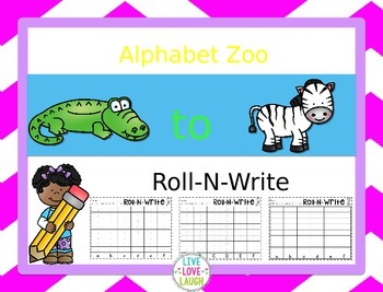 Alphabet Zoo From A to Z {Roll-N-Write} Editable