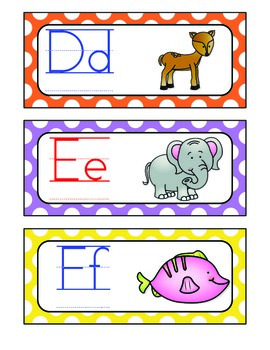 Alphabet Zoo From A to Z {Word Wall Headers}
