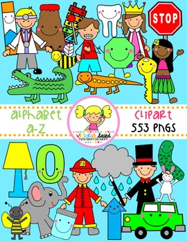 Alphabet a-z Clipart Bundle