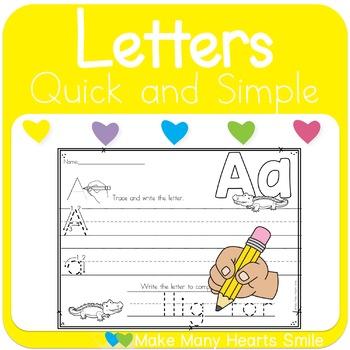 Alphabet and Animals Handwriting Worksheets