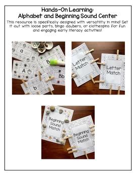 Alphabet and Beginning Sound BUNDLE (Hands-On Practice)