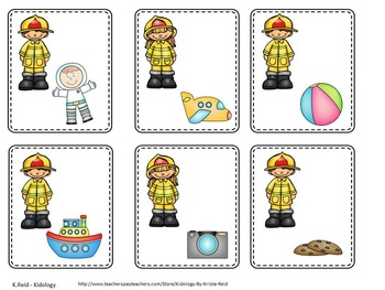 Fire Safety Alphabet and Beginning Sound Game For Pre K and Kindergarten