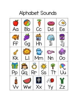 Alphabet and Beginning Sound Puzzles Literacy Center