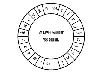 Alphabet and Beginning Sound Wheels