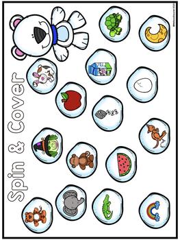Alphabet and Beginning Sound | Winter Themed Games!
