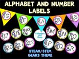 Robot Themed Alphabet, Pennants, and Calendar Numbers