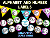 Alphabet, Pennants, and Calendar Numbers Robot Themed Set