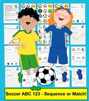 Spring FREE Alphabet and Counting:  Spring Soccer ABC & 12