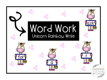 Alphabet and Dolch Sight Word: Word Work