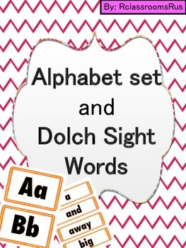 Alphabet Posters and Dolch Sight Words Posters (Orange)