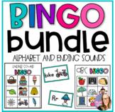 Alphabet and Ending Sound Bingo BUNDLE