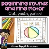 Alphabet and Fine Motor Activities - Beginning Sound Match