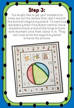 Alphabet and Fine Motor Activities - Beginning Sound Match
