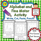 Alphabet and Fine Motor Activity - Write, Cut, Paste, Punc