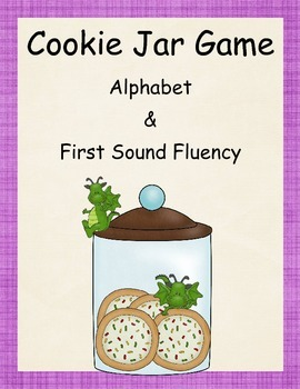 Alphabet and First Sound Fluency Cookie Jar Game