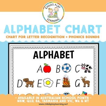 Alphabet and Letter Chart Upper Case FREEBIE