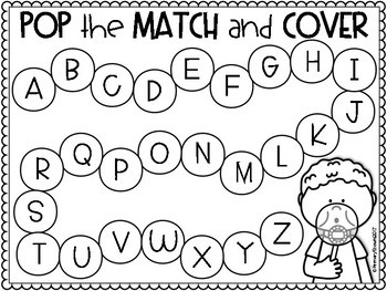 Alphabet and Letter/Sound Matching Center Game, K-1