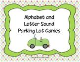 Alphabet and Letter Sound Parking Lot Games