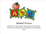 Alphabet and Letter Sound Smartboard Lesson
