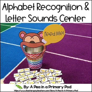 Alphabet and Letter Sounds Recognition Center (Hungry, Hungry Alphabet)