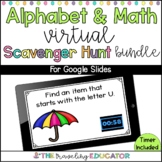 Alphabet and Math Virtual Scavenger Hunt