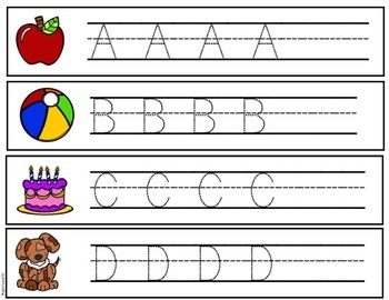 Alphabet and Number Tracing Strips