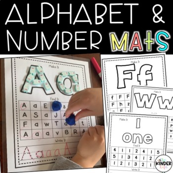 Alphabet and Number (1-20): Make It, Find It, and Write It Mats