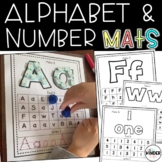 Alphabet Numbers Clay Dough Dry Erase Mats