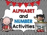 Alphabet and Number Activities