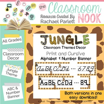 Jungle Theme: Alphabet and Number Banner