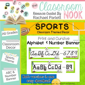 Sports Theme: Alphabet and Number Banner