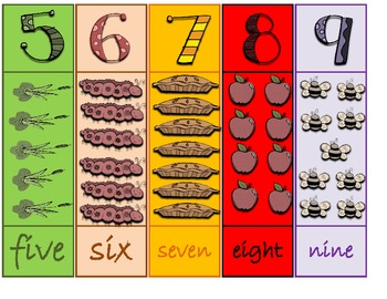 Alphabet and Number Bookmarks
